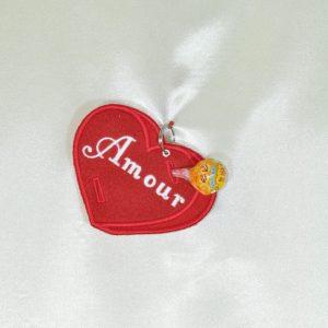 porte sucette coeur rouge amour