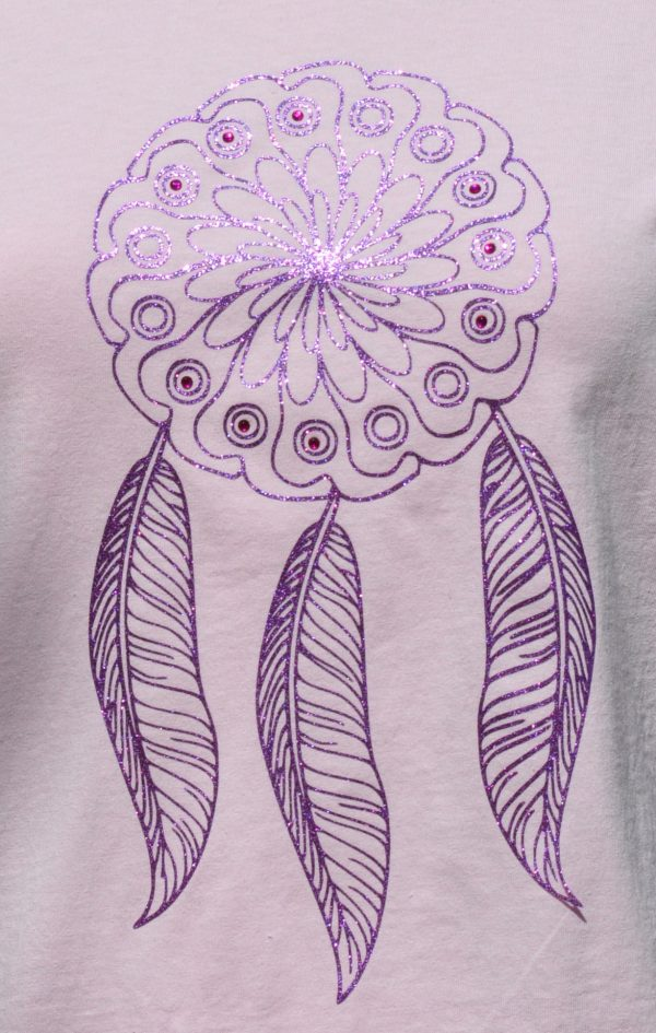 TTee shirt enfant rose attrape-reves