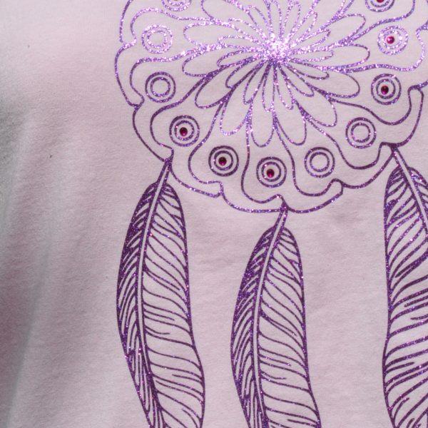 Tee shirt enfant rose attrape-reves