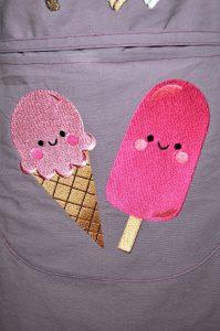 tablier parme enfants glaces